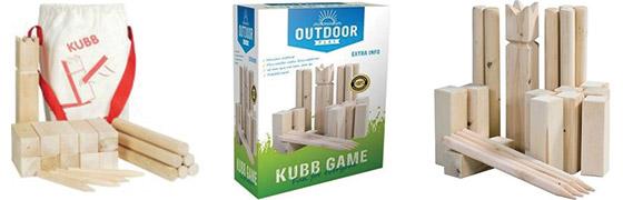 Kubb houten blokken spel