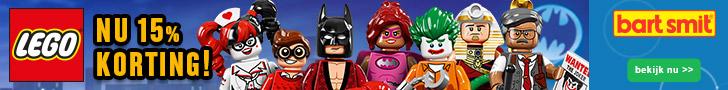 Lego 15% korting bij Bart Smit