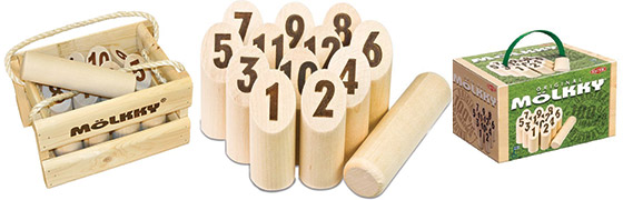 Mollky houten werpspel